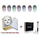 missammy 7colores luz LED de fotones terapia sistema Rostro y Cuello Máscara Antienvejecimiento Reducir las arrugas con función automática eléctrica Ultima A1Dr. Pen