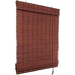 Persiana de bambú color cereza, tamaño: 60 x 160 cm