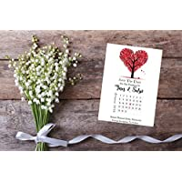 Personalised Save The Date Wedding Birthday Christening Night Evening Cards X 10 Love Tree Calendar Style A6 SD433
