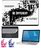 #3: FineArts Combo of UV Printed Laptop Skin, Screen Protector Guard with Keyboard Guard for 15.6 inch Laptop and Fire Decal for Mobile Phones