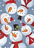 Toland Home Garden 1112269 Schneemann-Selfie-Gartenflagge (3,5 x 45,7 cm), Winter-Weihnachtsschal, Mehrfarbig