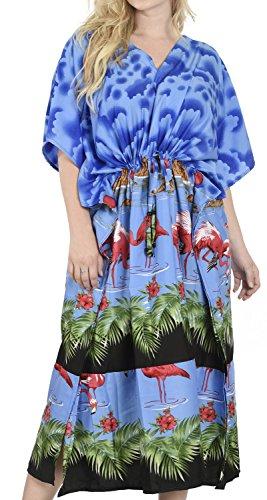 La-Leela-flamenco-todo-bao-seoras-trajes-bao-cubierta-nublado-arriba-vestido-noche-ms-vestir-camisa-dormir-noche-profunda-cuello-ocasional-maxi-vestido-drastring-flojo-largo-caftn-azul