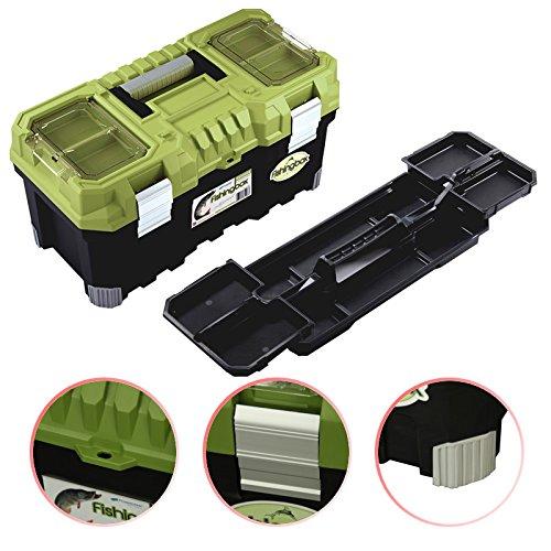 Angelkoffer Fishingbox Werkzeugkoffer Werkzeugkasten Sortimentskasten Werkzeugbox 55x29x28 cm