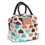 Carino Dolce Cuore Borsa Porta pranzo raffreddamento isolato impermeabile borsa per il pranzo tote bag per picnic, Tessuto, Beige
