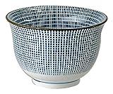 Mino Japanische Tee Tasse Sendan Tokusa aus Porzellan,blau weiß, ∅ 9 cm