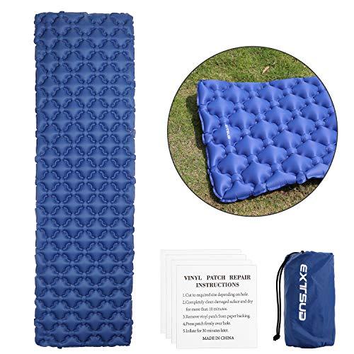 EXTSUD Ultraleichte Aufblasbare Isomatte|selbstaufblasbare Isomatte|Camping Matratze Schlafmatte |kleines Packmaß Luftmatratze |Ideal für Outdoor Camping,Reise,Wandern,Strand|Hohe Qualität|MEHRWEG