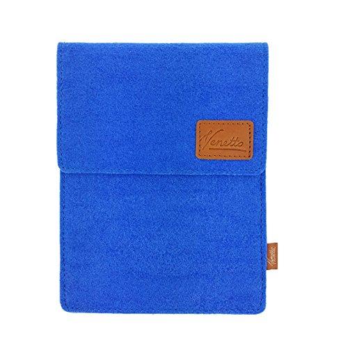 Venetto Tasche für eBook-Reader Hülle aus Filz Sleeve Schutzhülle für Kindle Kobo Tolino Sony Trekstor Hellblau