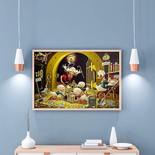 Kein Rahmen Wandkunst Ölgemälde Comics und Geschichten Hauptdekoration modernes Gemälde KK 30X40CM -