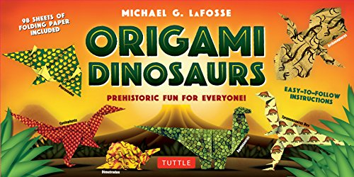 Origami Dinosaurs Kit: Prehistoric Fun for Everyone! [Origami Kit with 2 Books, 98 Papers, 20 Projects]