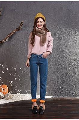 Menschwear Women's Stretch Jeans Fleece Lined Boyfriend Fit