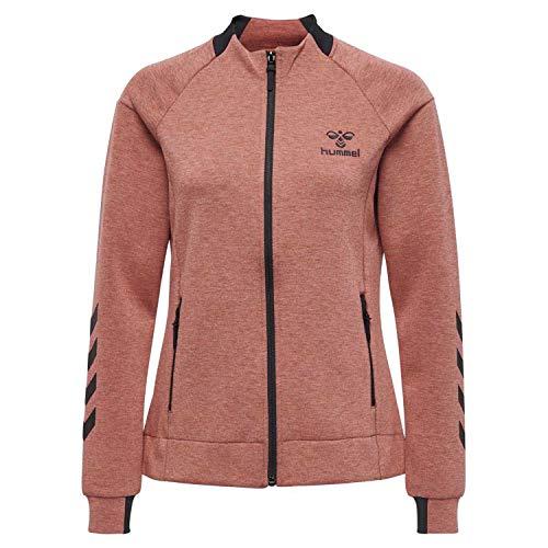 Hummel Damen HMLCLIO Zip Jacket Jacke Mineral Red Melange, L