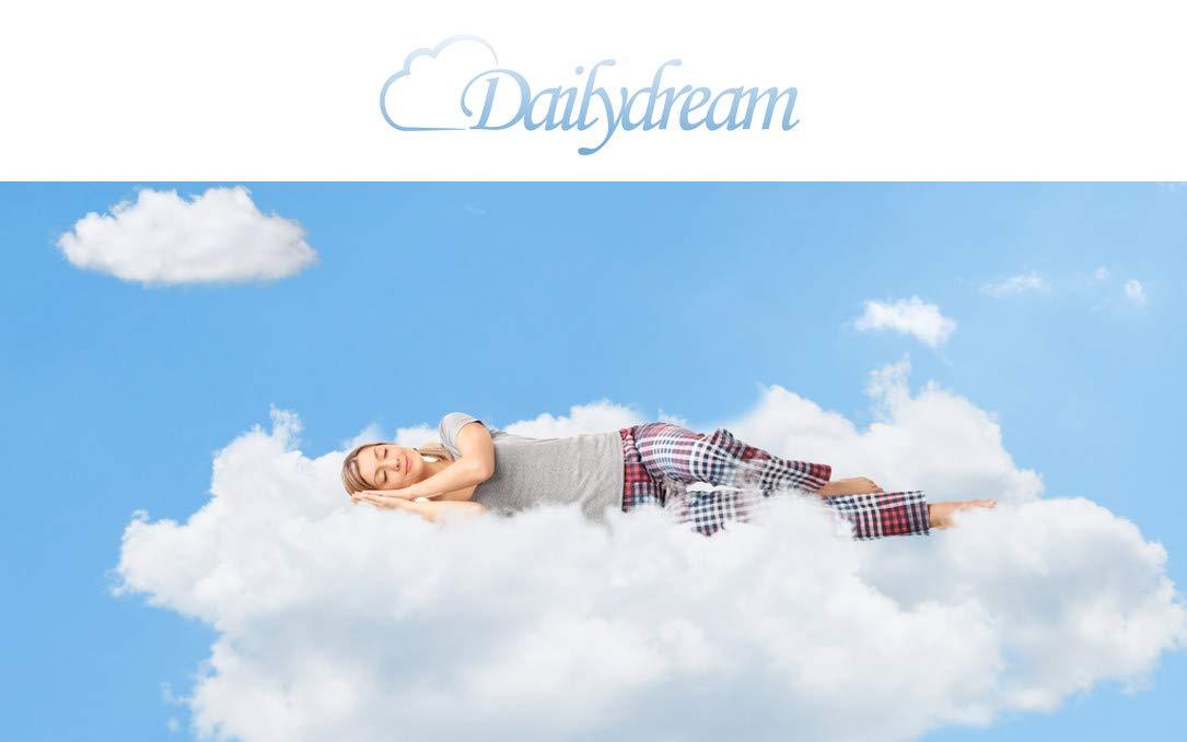 "Dailydream Viscoelastische Matratzenauflage ""Deluxe"" mit Memory Foam Effekt, 80x200x5cm"
