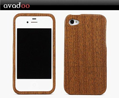 Avadoo © Case bois couverture pour iPhone 4 et 4S de noble bois d'érable !!! Pour l'iPhone 4 et 4S !!! Protecteur naturel pour iPhone 4/4S Noyer