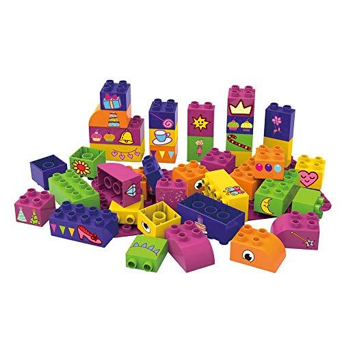 BIOBUDDI Learning to Create 40 pcs 40pieza(s) - Bloques de construcción de Juguete (Multicolor, 40 Pieza(s), Plaza, Imagen, Preescolar, Niño/niña)