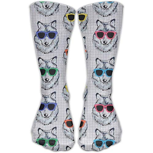 ouyjian Sunglasses Dog Unisex Tube Socks Crew Over The Calf Soccer Comfort Stockings for Sport and Travel