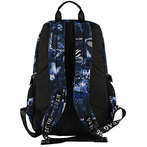 Mocha weir JIAYBL Laptop Taschen Schultern Kinder Schultaschen Rucksack Hochschule Mädchen Canvas Pack reisen (orange) blau