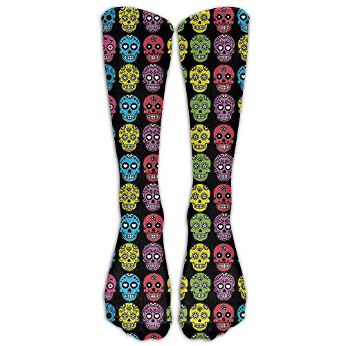 Perfect Gift - Green And Fresh Avacado Stockings Breathable Hiking Socks Classics Socks For Women Teens Girls Unisex Halloween Mexican Sugar Skull