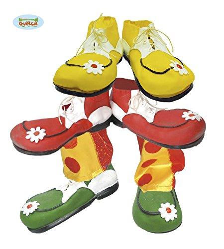 1 Paar Clown Schuhe aus Latex für Kinder