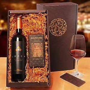 Präsent Schokolade und Wein aus Spanien Vino e Dulce