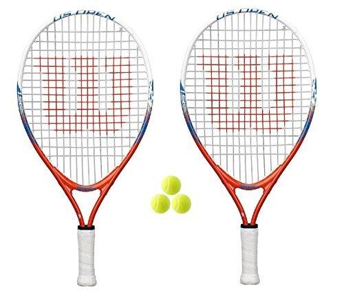 Wilson 2 x US Open 19 Junior Tennis Rackets + 3 Balls
