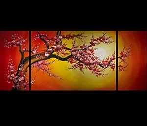 Reproduction artistique sur toile Motif abstrait Art Tableaux sur toile moderne Toile murale Motif fleurs de cerisier