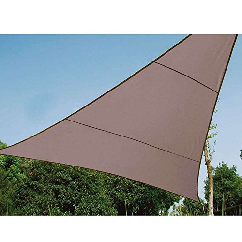 Werkapro Toile d'ombrage Triangulaire Couleur Taupe 5x5x5m