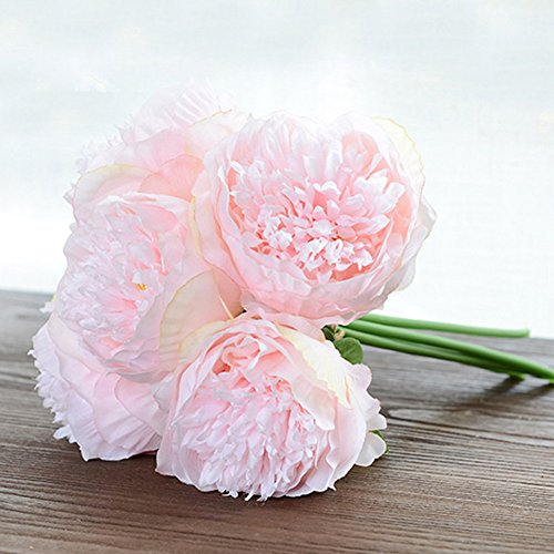 lianle handmade peony flowers artificial floral decorative bridal