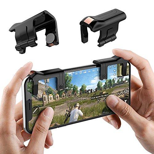 KOBWA Mobile Game Shooter Controller für pubg/Messer Out/Rules Of Survival Ziel Schlüssel Joystick Smart Handy Gaming Controller für iOS Android (1Paar) - Zu Gewinnen Schießen, Um