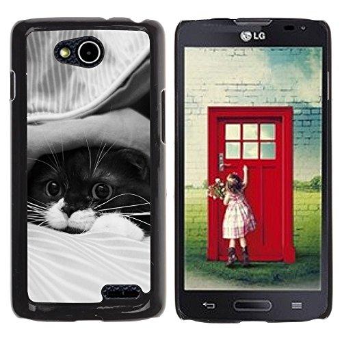DREAMCASE Hart Handy SchutzHülle Hülle Schale Case Cover Etui für LG OPTIMUS L90 D415 - Cute Cat