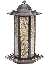 Birdscapes Alimentador de aves decorativo con forma de tulipa.