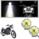 #4: Vheelocityin 4 Led Small Circle Motorcycle Light Bike Fog Lamp Light - 2 Pc For Royal Enfield Thunderbird