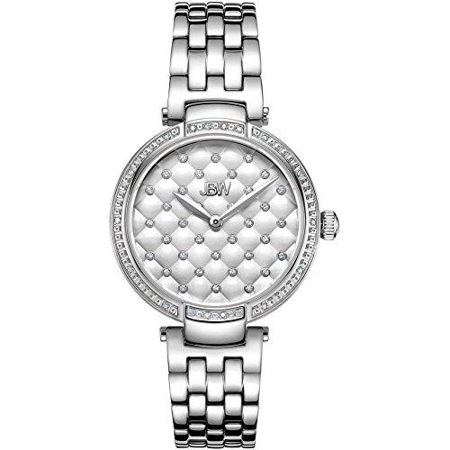 JBW Gala Reloj de mujer diamante cuarzo suizo 34mm correa de acero J6356C