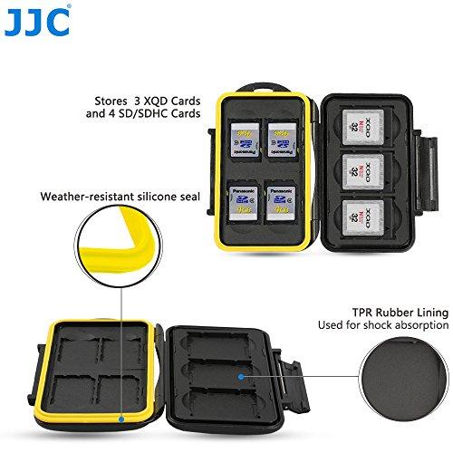 Card Jjc Sd Memory (JJC Multi Memory Card Case MC-XQDSD7 Speicherkarten Schutzbox für 3 Stück XQD und 4 Stück SDHC Cards- extreme Wasserdicht und Stoßfest Box Safe Tasche Etui Aufbewahrungsbox Hülle)