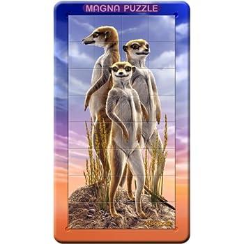 Cheatwell Games 3D Magna Puzzle Portrait (Meerkats )
