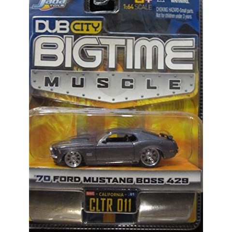 70 Ford Mustang Boss 429 (metallic gray) Dub City Bigtime Muscle By Jada by Dub (70 Boss 429 Mustang)