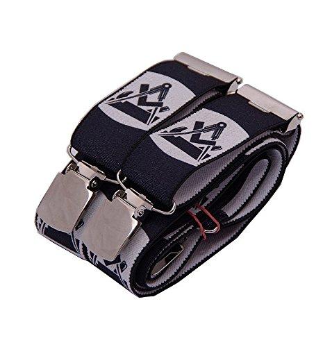 Oyster Hosenträger schwarz mit Emblem verschiedene Gewerke (Tischler) (Herren-emblem)