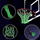 Gaddrt Basketball-Netz Bei Nacht sichtbar Leuchtendes Basketballnetz Outdoor-Sportzubehör Sporting 44x32cm (Grün)