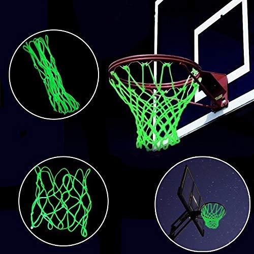 99native Fluoreszierendes im Dunkeln Leuchtendes Basketballnetz,NBA Standard Rim Basketball Netz Nylonseil Basketball Basketballring (Grün)