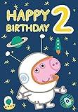 Peppa Pig George Spaceman Alter 2Geburtstag Karte von Gemma International