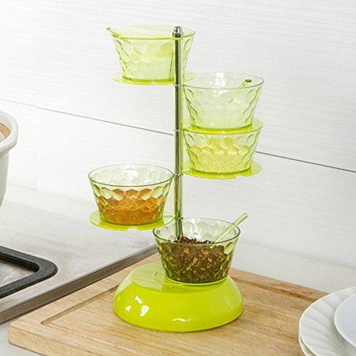 2016neu wurde 1Mason Jar Mason Gläser Ebene kann Drehen Küche Würze Flasche Kassette Salz Spice Gewürz Box mit Löffel ^ Drehen Spice Rack