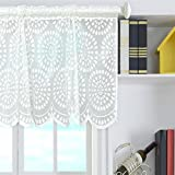 Livecity Window Dressing Rod Pocket Short Curtain Kitchen Cabinent Valance 45cmx150cm (Dots)