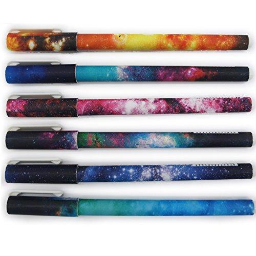 Artone Galassia Stellato Sostituibile Nero Penne Roller A Inchiostro Gel Scuola Stazionario (Set Di (Inchiostro Nero Disegno)
