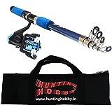 Fishing Spinning Rod, Reel, Free Travelling Bag (6 Feet)