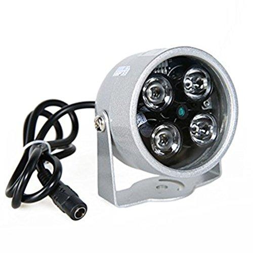 Ccd-30 Ir-leds (YMAO 4 LED Überwachungskamera Infrarot-Nachtsicht IR-Licht Beleuchtungslampe Scheinwerfer Scheinwerfer 90Grad für IP CCTV-CCD-Kamera für Außenbereich)