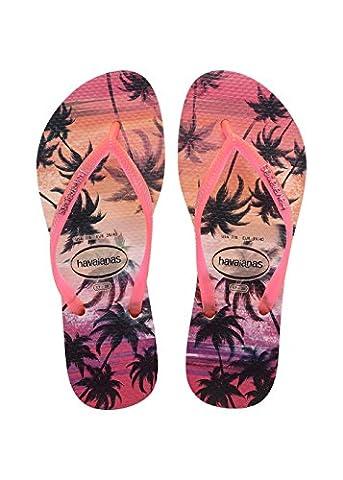 Havaianas Damen Flip Flops Slim Paisage Grösse 39/40 EU ( 37/38 Brazilian) Pearl Rosa Zehentrenner für Frauen