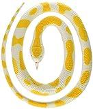 Wild Republic 20769 Albino Python Rubber Snake, Yellow/White, 117 cm
