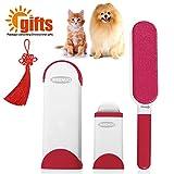 Bürsten für Haustiere, Haustiere Fell und Haar Lint Remover Rolle mit Selbstreinigung entfernen Hund Katze Haar( Rot )
