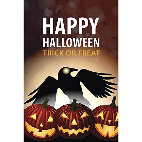 Balight 30,5x 45,7cm Halloween Garten-Flagge im Yard 100D Polyester Regendicht Winddicht Halloween Garten Dekorationen, A16
