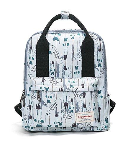 26c2b68eb8c2e Keshi Nylon Niedlich Schulrucksäcke Rucksack Damen Mädchen Vintage Schule  Rucksäcke mit Moderner Streifen für