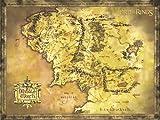Poster de tamaño gigante 'El Señor de los Anillos' Mapa de la Tierra Media (135,5cm x 98cm)